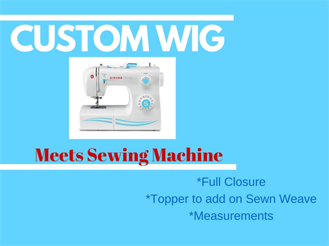 Custom Wig Meets The Sewing Machine Watch And Learn Hair Weaving Cool Hair Weave Sewing Machine